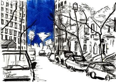 W. 71st street in blu